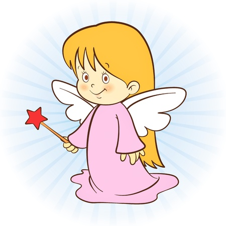 Little cute angel! Illustration