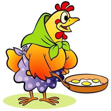 frying: hen