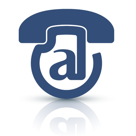 telecoms: Voice-Mail icona. Icona del design unico e creativo per voice-mail servizio!