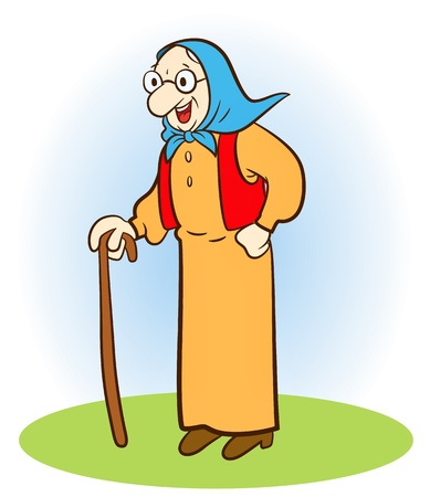 Old woman Stock Vector - 10847099