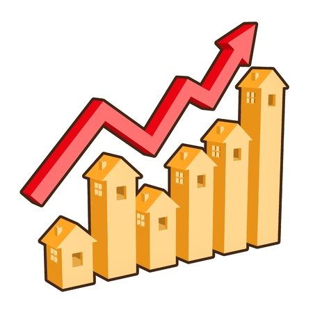 home prices: chart shows real state buy and sell rate changes! Illustration