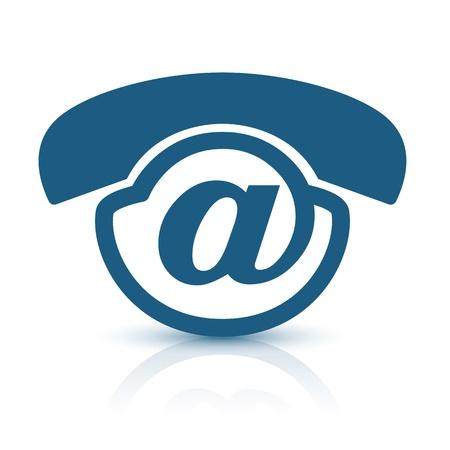 contact icon: Voice-Mail-logo. Unieke en creatieve pictogram ontwerp voor voice-mail service