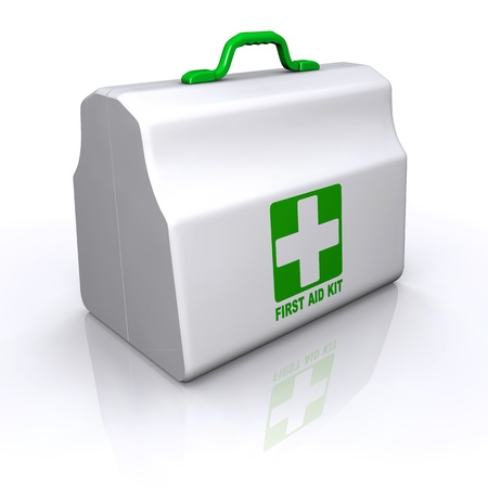 koffer: First Aid Kit pakket Stock Illustratie