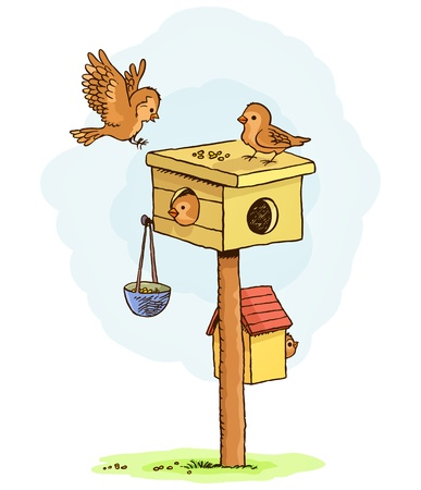 birdhouse: Birds house Illustration