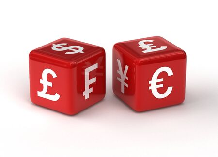 currency exchange: Currency Exchange Risk Concept Stock Photo