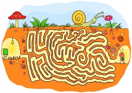 doolhof: Ant naar school doolhof spel
