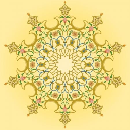 Vector of traditional Persian-Arabic-Turkish-Islamic Pattern Stock Vector - 19089741