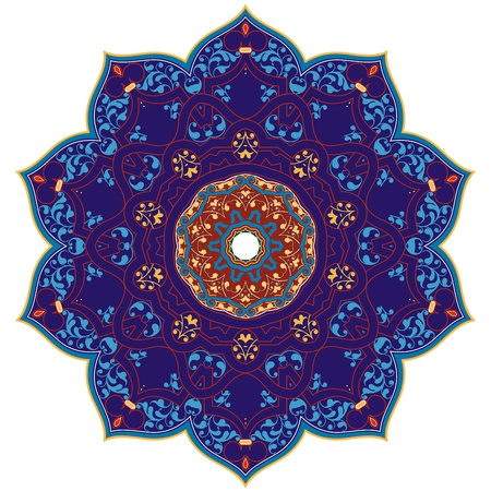 isfahan: Vector of traditional Persian-Arabic-Turkish-Islamic Pattern