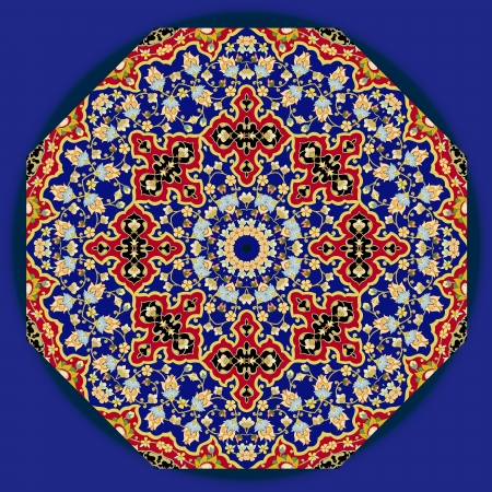 ottoman fabric:  traditional Persian-Arabic-Turkish-Islamic Pattern