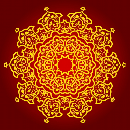 indian summer:  traditional Persian-Arabic-Turkish-Islamic Pattern