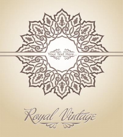 western pattern: Royal Card Illustration