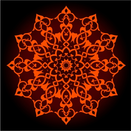 iran mosaic: traditional Persian-Arabic-Turkish-Islamic Pattern  Illustration