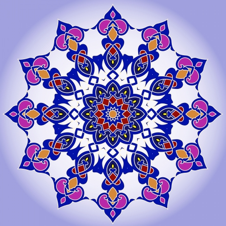 isfahan: traditional Persian-Arabic-Turkish-Islamic Pattern  Illustration