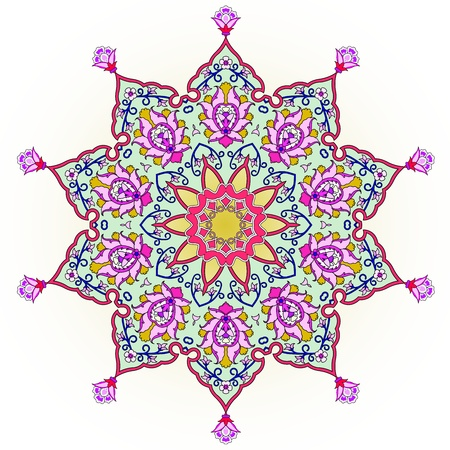persian culture: traditional Persian-Arabic-Turkish-Islamic Pattern  Illustration