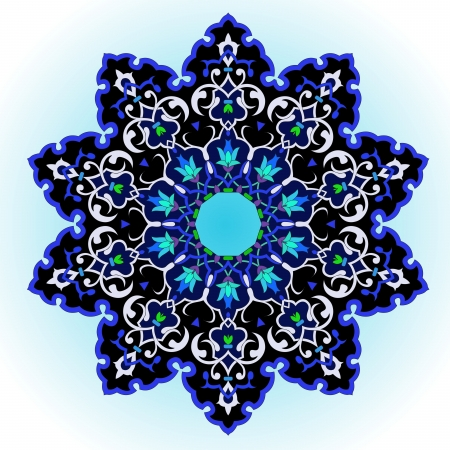 tibetan: traditional Persian-Arabic-Turkish-Islamic Pattern  Illustration