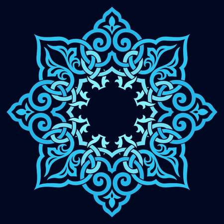 henna pattern: traditional Persian-Arabic-Turkish-Islamic Pattern  Illustration