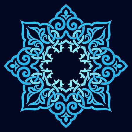 western pattern: traditional Persian-Arabic-Turkish-Islamic Pattern  Illustration