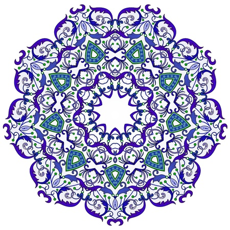 ceramic: traditional Persian-Arabic-Turkish-Islamic Pattern  Illustration