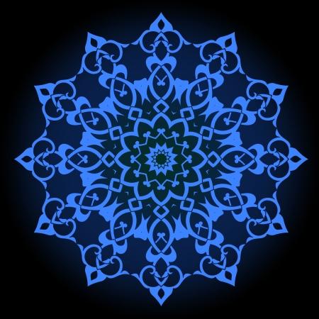 splendide: Motif persan-arabe islamo-turque traditionnelle