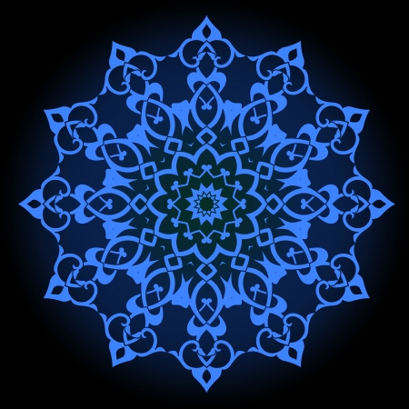 iranian: traditional Persian-Arabic-Turkish-Islamic Pattern  Illustration