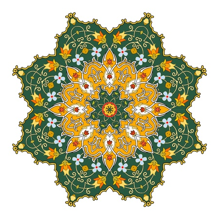 Vector of traditional Persian-Arabic-Turkish-Islamic Pattern Stock Vector - 19694676
