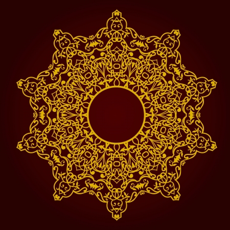 Vector of traditional Persian-Arabic-Turkish-Islamic Pattern  Stock Vector - 19694681