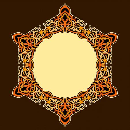 Vector of traditional Persian-Arabic-Turkish-Islamic Pattern