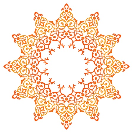 western wall: Vector of traditional Persian-Arabic-Turkish-Islamic Pattern