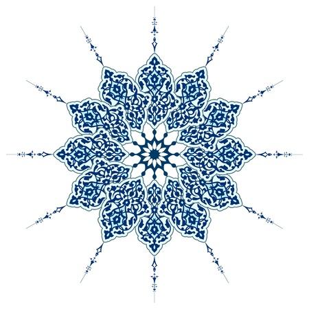 Vector van traditionele Perzisch-Arabisch-Turks-Islamitische patroon