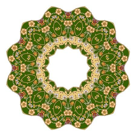 전통적인 페르시아 이슬람 아랍 - 터키어 - 인도 패턴