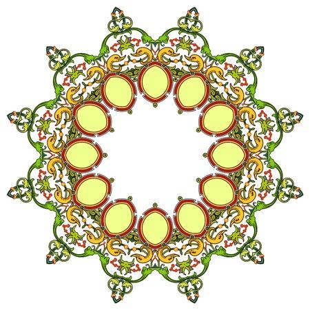 Traditional Persian-Islamic-Arabic-Turkish-Indian Pattern Stock Vector - 19866752