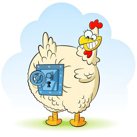stingy hen Vector