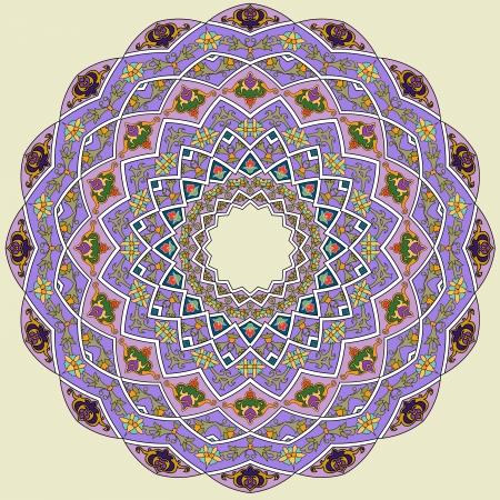 전통적인 페르시아 아랍어 터키어 - 이슬람 패턴 스톡 콘텐츠 - 21124198