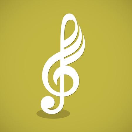 minim: Musical notes staff background  illustration