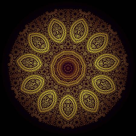 Vector van traditionele Perzisch-Arabisch-Turks-Islamitische patroon Stock Illustratie