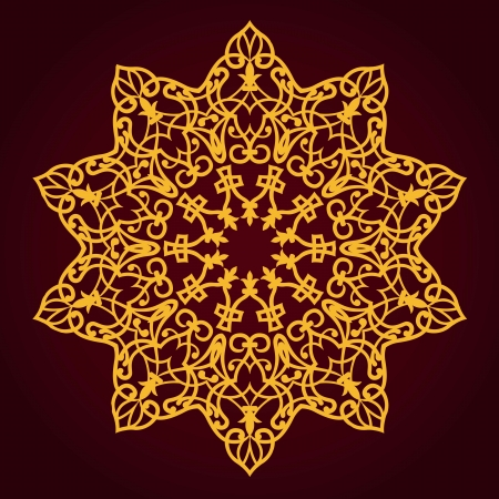 Vector of traditional Persian-Arabic-Turkish-Islamic Pattern  Vector