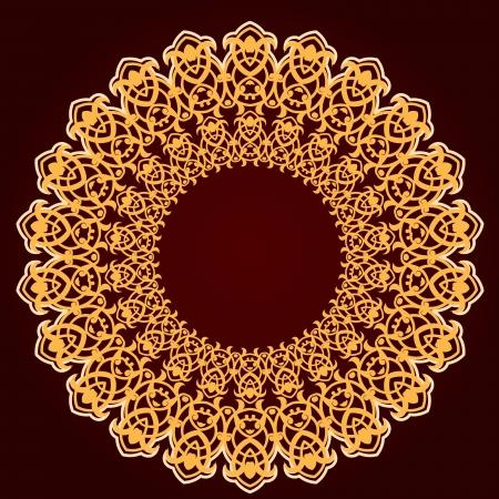 ペルシア語-アラビア語-トルコ ・ イスラムの伝統的な模様のベクター