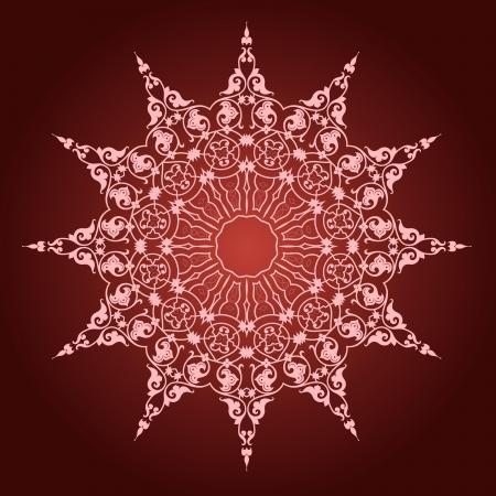 Vektor der traditionellen persischen-Arabic-T?rkisch-Islamische Muster Standard-Bild - 21542946