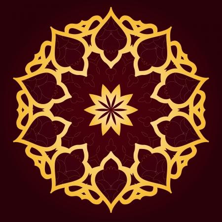 arabesque: Vector de patr?n persa-?rabe-turco-isl?mica tradicional Vectores
