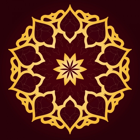 oriental: Vector of traditional Persian-Arabic-Turkish-Islamic Pattern
