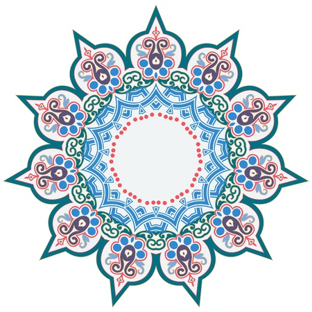 전통적인 페르시아 아랍어 터키어 - 이슬람 패턴의 벡터