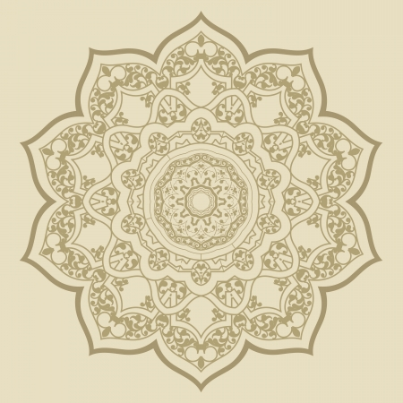 전통적인 페르시아 아랍 - 터키 - 이슬람 패턴의 벡터 일러스트