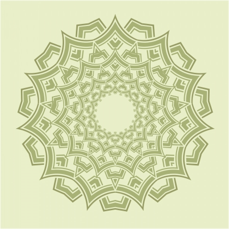 tibetan: Vector of traditional Persian-Arabic-Turkish-Islamic Pattern
