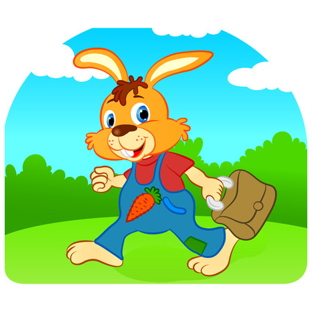 comic rabbit vector