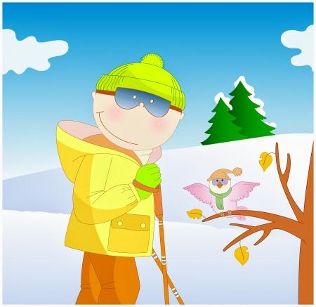 cool boy: cool boy skiing