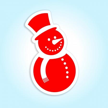 Snowman icon label