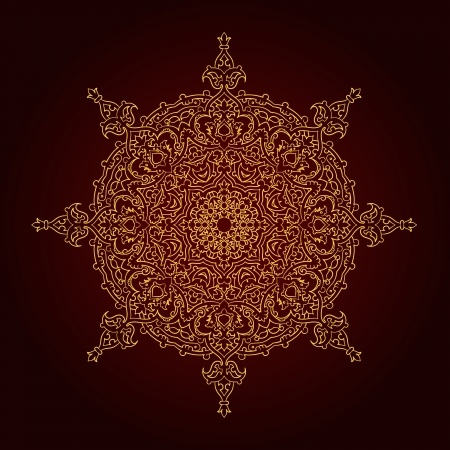 Vector of traditional Persian-Arabic-Turkish-Islamic Pattern Stock Vector - 25423890