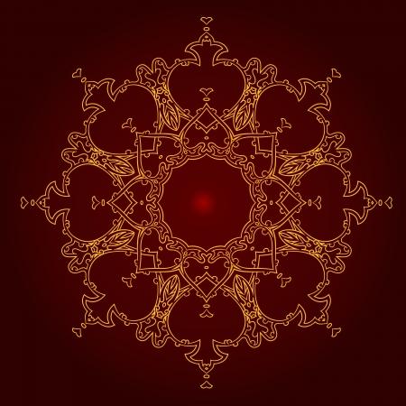 Vector of traditional Persian-Arabic-Turkish-Islamic Pattern Stock Vector - 25423926
