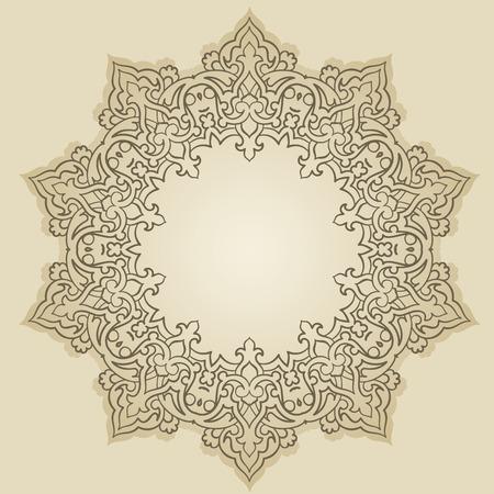 曼陀羅: ペルシア語-アラビア語-トルコ ・ イスラムの伝統的な模様のベクター  イラスト・ベクター素材