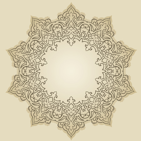 persian culture: Vector of traditional Persian-Arabic-Turkish-Islamic Pattern